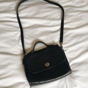 vintage black Coach purse